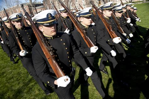 training regimental review    coast guard academy