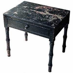 Decorative, Black, Painted, Occasional, Or, Bedside, Table, Circa, 1900, For, Sale, At, 1stdibs