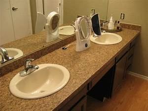 taking off an old bathroom laminate countertop and With how to replace bathroom sink countertop
