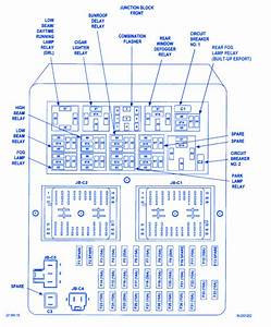 Jeep Grand Cherokee Laredo 2001 Fuse Box  Block Circuit Breaker Diagram