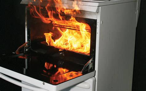 oven cfire cooking take care when cooking kitchen fire safety tips