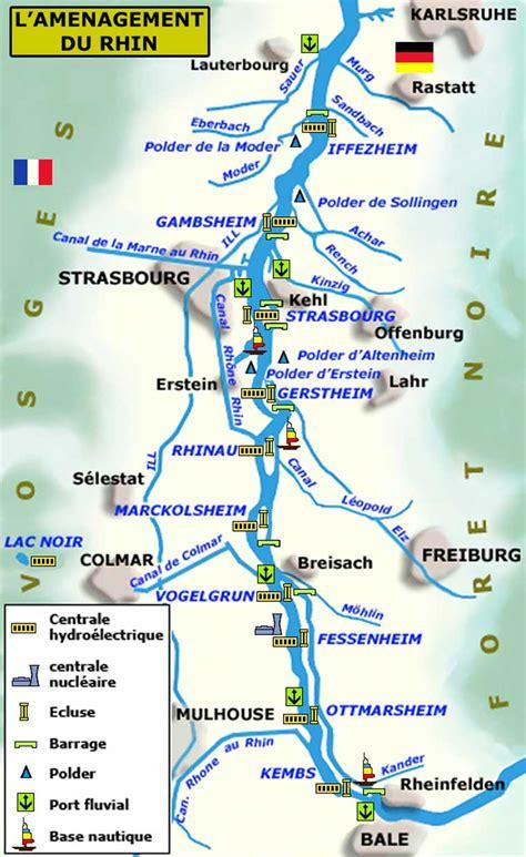 Carte Fleuve Rhin by La Navigation Sur Le Rhin Le Rhin Gt L 233 Conomie Du Rhin