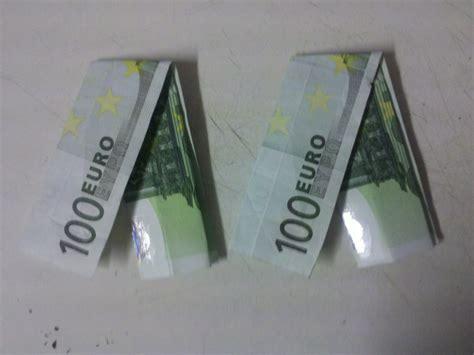 geldscheine falten origami mit geldscheinen