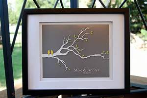wedding gifts first anniversary gift paper love birds With tree as wedding gift