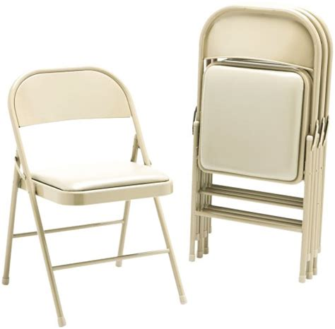 hon fc02lbg steel folding chairs with padded seat light