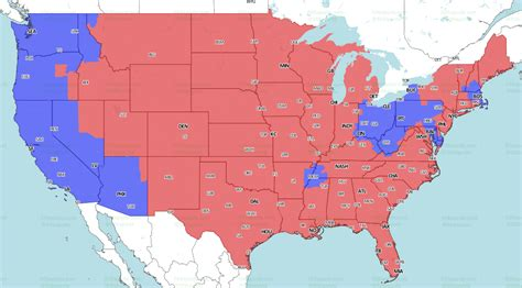 week  nfl tv coverage map