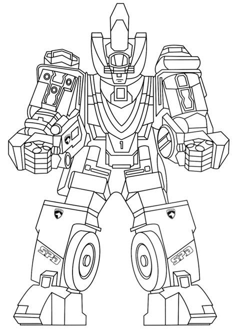 jeux de la jungle cuisine coloriage de power rangers spd deltamax megazord