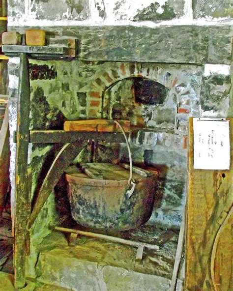 kettle  making soap  rowboat house  st laurent
