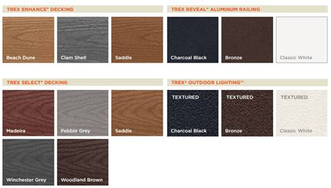 Trex Transcend Decking Colors by Trex Composite Decking Cleveland Lumber Co
