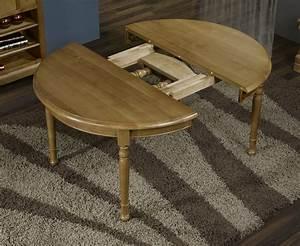 Table ronde en Chêne Massif de style Louis Philippe DIAMETRE 110 2 ALLONGES DE 40 cm , meuble