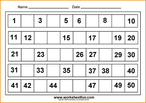 preschool worksheets numbers 1 100 kindergarten math worksheets numbers 1 100 them