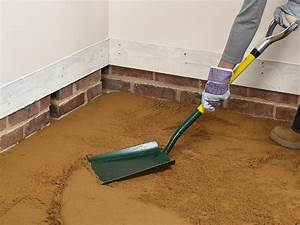how to install a concrete floor how tos diy With how to sand concrete floor