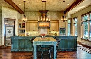 Ranch style by the lake rustic kitchen houston by for Kitchen cabinets lowes with rustic mexican wall art