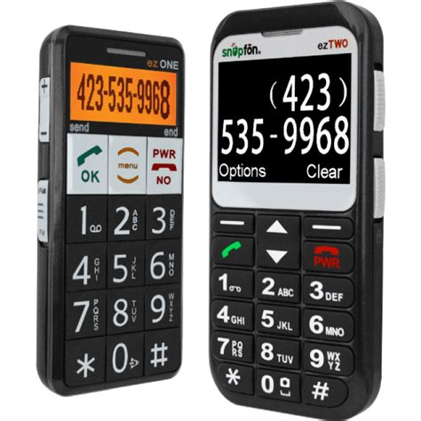 low vision cell phone snapfon eztwo big button cell phone with talking keypad