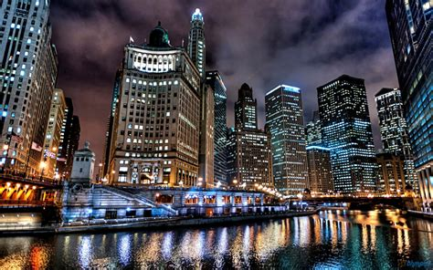 chicago   chicago river  night  pondering mind