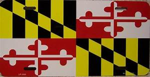 Maryland License Plate Designs State Flags Of The United States Aluminum License Plate