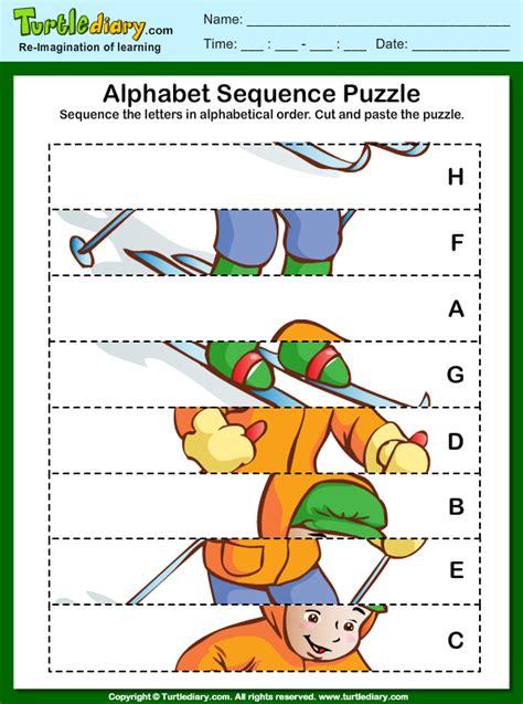 sequence  letter  alphabetical order worksheet