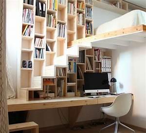 1001 solutions pour l39equipement de vos petits espaces With mezzanine dans une chambre