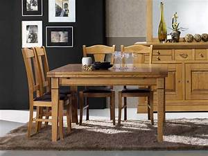 Table Carree Chene : table manger carr e rustique en ch ne massif 4 pieds fuseaux meubles bois massif ~ Teatrodelosmanantiales.com Idées de Décoration