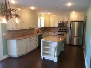 mrk kitchen kraftmaid cabinets done in harrington door style maple wood finished in a canvas
