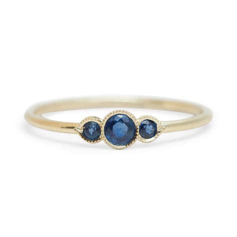 melika sapphire ring catbird