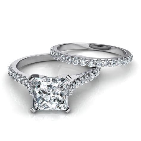 Tall Cathedral Engagement Ring & Wedding Band Bridal Set. Cersei Rings. Princess Wedding Rings. Twin Rings. 2pc Engagement Rings. Layer Rings. Woodland Wedding Rings. Mustang Wedding Rings. Glow Rings