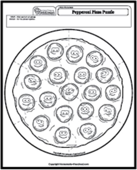 pepperoni pizza puzzle 361 | worksheet math puzzle pizza