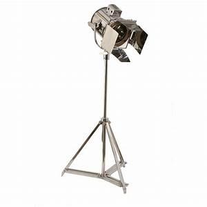 buy libra steel studio spotlight floor lamp from fusion living With jcpenney adjustable metal floor lamp by studio