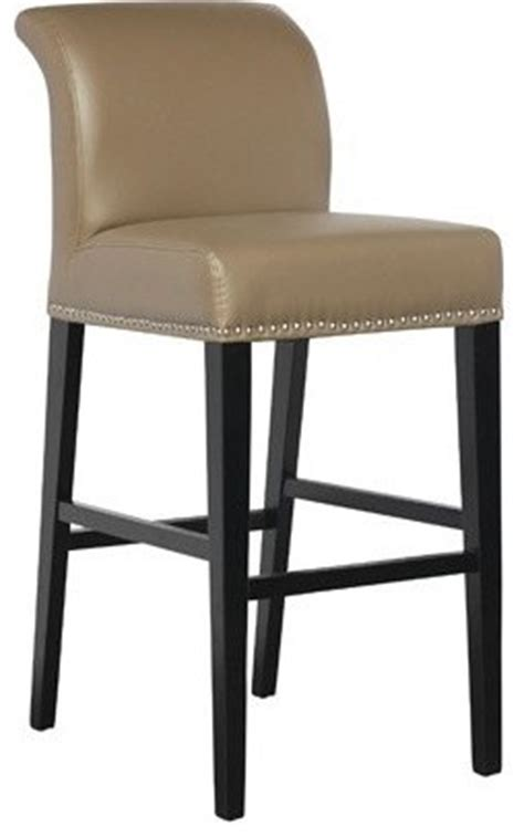taupe leather counter height stool contemporary living