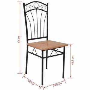 Chaise Fer Et Bois : chaise en bois de cuisine achat vente pas cher ~ Teatrodelosmanantiales.com Idées de Décoration
