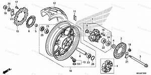 Honda Motorcycle 2017 Oem Parts Diagram For Rear Wheel