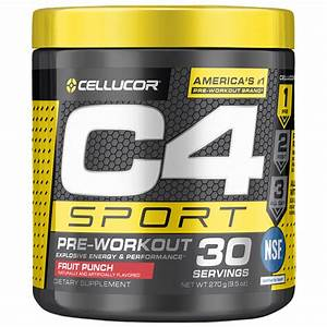Cellucor C4 Sport Pre Workout Powder  Energy Drink With Creatine Monohydrate  U0026 Beta Alanine