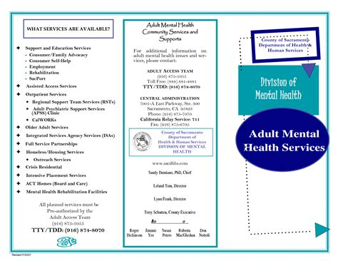Free Mental Health Brochure Templates by Magnificent Sle Phlet Templates Sketch Exle