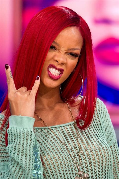 Rihanna Redhair Rihanna♡ Pinterest Hair Straight
