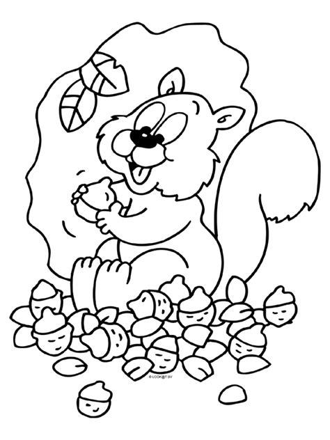 Kleurplaat Herfst Eekhoorn kleurplaat herfst eekhoorn eikels kleurplaten nl ősz