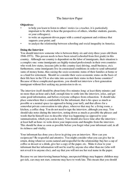 interview paper  format   research  case museumlegs