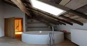 idee deco salle de bain sous pente ou sous combles With idee salle de bain sous pente