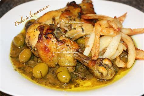 cuisine saveur cuisine marocaine poulet à la marocaine sousoukitchen