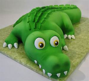 cam39s alligator cake birthday cake for my friend39s son With crocodile birthday cake template