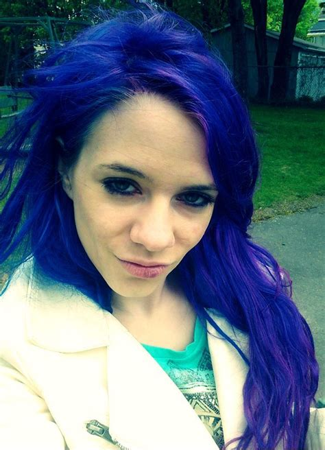 Blue Hair With Splat Blue Envy Blue Hair Color Dyed