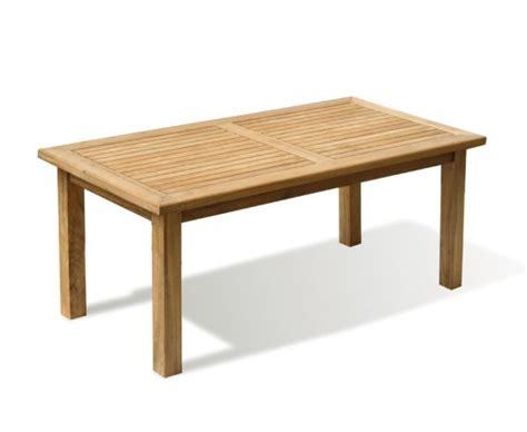balmoral ft teak garden rectangular table lindsey teak