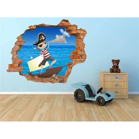 dessin mural chambre grand sticker 110x90 cm pirate dessin mural 3d chambre