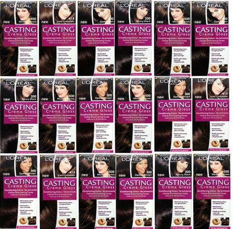 castings hair colour range l oreal creme gloss hair colour dye shades no ammonia black brown more ebay