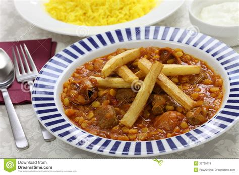 cuisine iranienne gheimeh de khoresh cuisine iranienne photos libres de