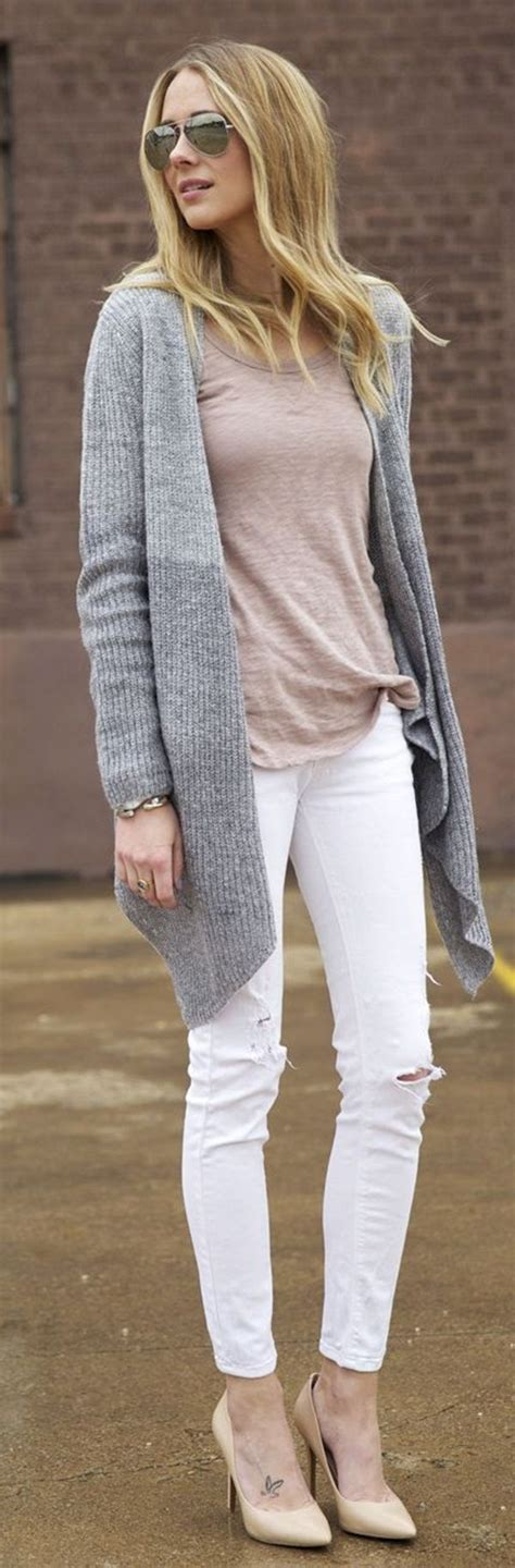 40 Stylish Chic Long Cardigan Outfits For Ladies   Cute ...
