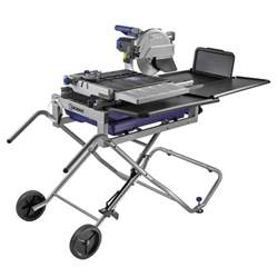 shop kobalt 10 in wet dry tabletop sliding table tile saw