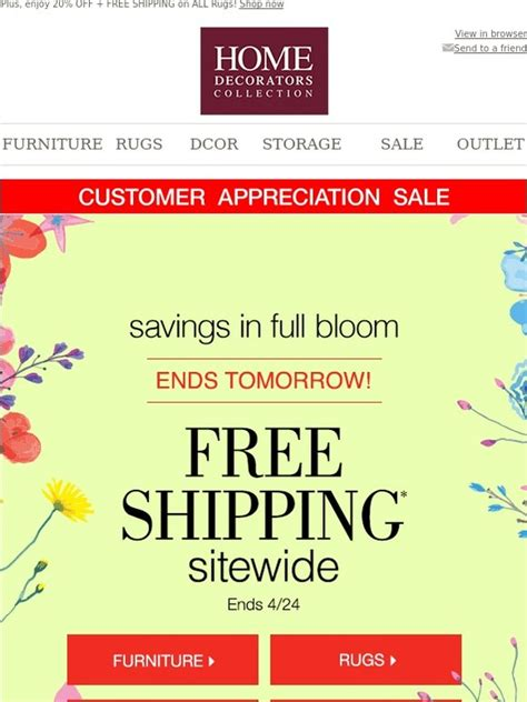 home decorators free shipping promo code  28 images