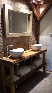 meuble vasque idees deco recup pour la salle de bains With meuble salle de bain brocante