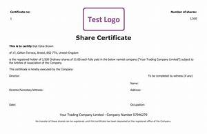 free share certificate template create perfect share With shareholders certificate template free