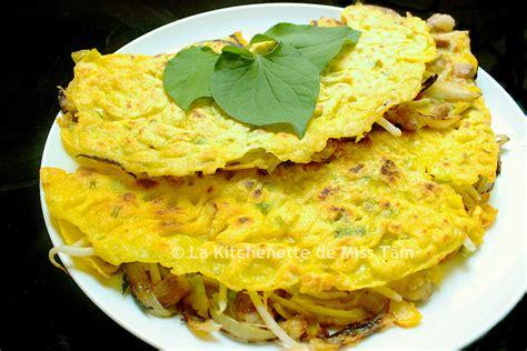 ancienne recette de cuisine crêpe vietnamienne farcie aux crevettes et au porc bánh